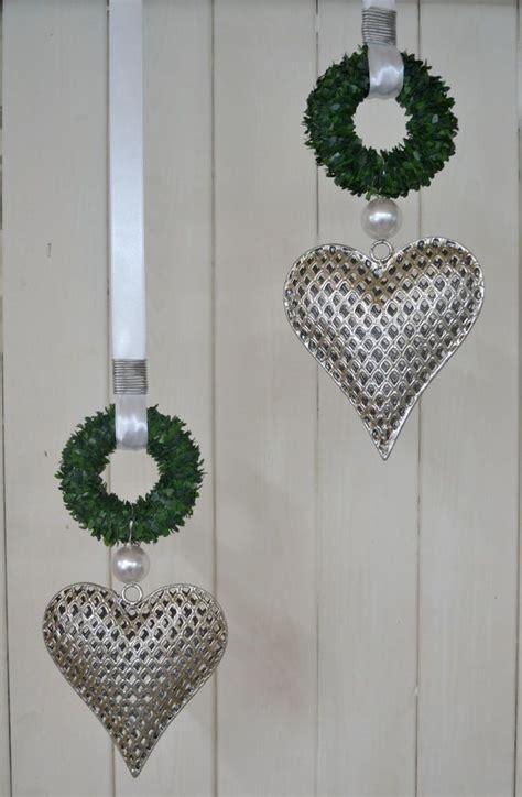 Weihnachtsdeko Fenster Edel by Fensterdeko Herz Metall 16x14 5 Cm Minibuchskranz Perlen