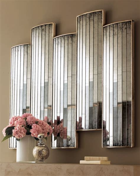 john richard collection caster mirrored wall decor