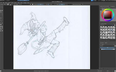 blue sketch  digital  krita david revoy