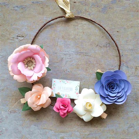 carta fiori ghirlanda di fiori di carta mobili la figurina shop