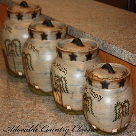 primitive kitchen canisters adorable country classics home decor gifts primitive