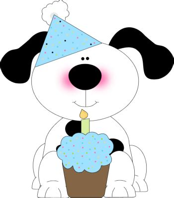 cute birthday dog   cupcake clip art cute birthday