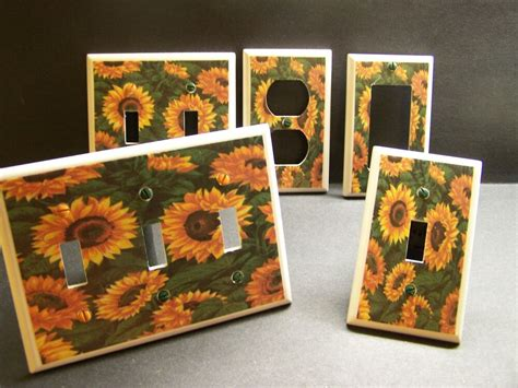 home decor outlet sunflower sunflowers kitchen home decor light switch or