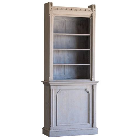 shallow bookcase shallow antique english painted oak display cabinet bookcase circa 1875 at 1stdibs