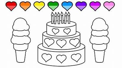 Coloring Cake Ice Cream Colors