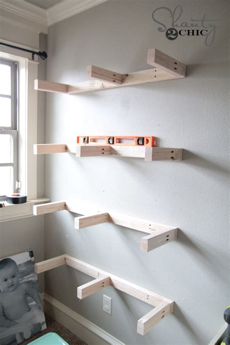 how to build a wall bookcase step by step diy floating shelves plans and tutorial shanty 2 chic