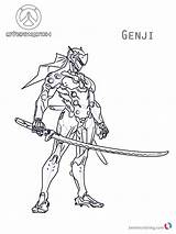 Overwatch Coloring Genji Fortnite Colouring Printable Skin Meowscles Skins Hanzo Mercy Royale Battle Bettercoloring Template sketch template