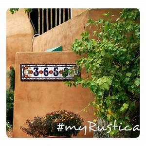 mexican number tiles With ceramic tile house numbers and letters