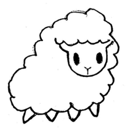 sheep face template clipart