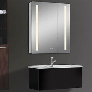 Spiegelschrank 60 Cm Led : led spiegelschrank aluminio sun b x h 60 x 70 cm mit beleuchtung aluminium bauhaus ~ Bigdaddyawards.com Haus und Dekorationen