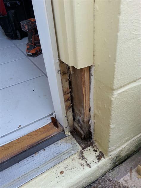 door jamb  repaired removed