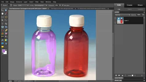 photoshop elements 10 use color replacement tool to