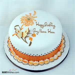 Butterfly Birthday Cake Images with Name