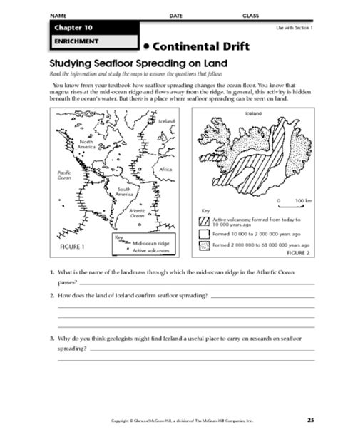 sea floor spreading worksheet pdf worksheets seafloor spreading worksheet chicochino