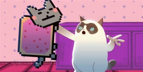 Grumpy Cat Vs Nyan Cat Animeme Rap Battles Pits Feline