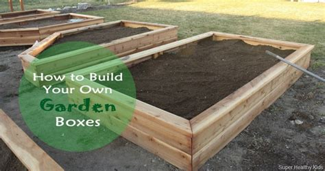 Garden In A Box by How To Make Your Own Garden Boxes Healthy Ideas For