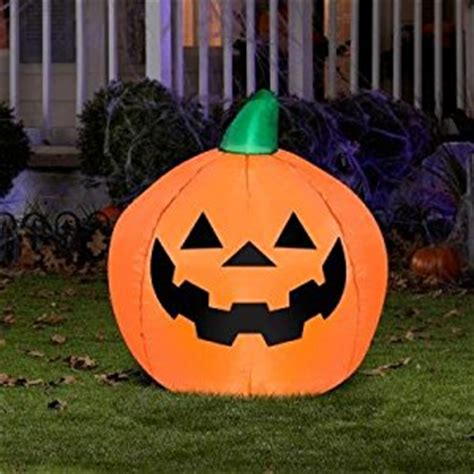 amazon com 35 quot lighted inflatable pumpkin decor jack o