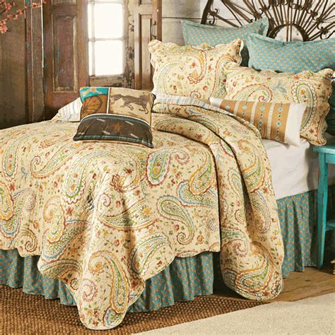 western bedding fullqueen size wildflower paisley quilt