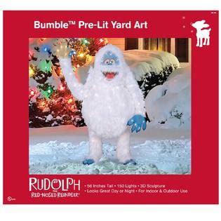 pre lit abominable snowman cute lawn decoration  kmart