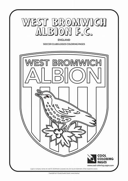 Coloring West Albion Bromwich Pages Cool Soccer
