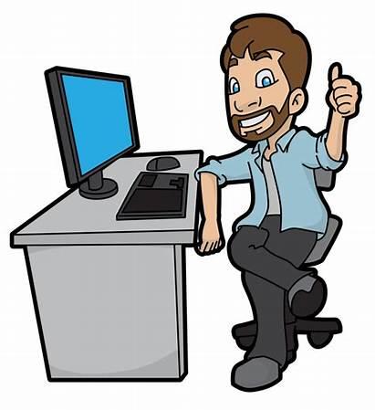 Computer Cartoon Human Svg Hr Manager Approving