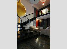 Interior Modern Loft With Industrial Bricks Element Home