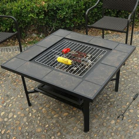 pit table grill leisurelife 4 in 1 woodburning firepit coffee table grill