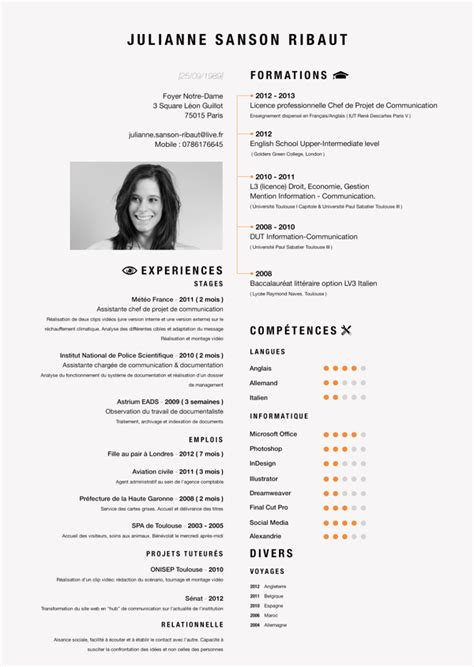 Layout Cv by Curriculum Vitae By Valentin Moreau Via Behance