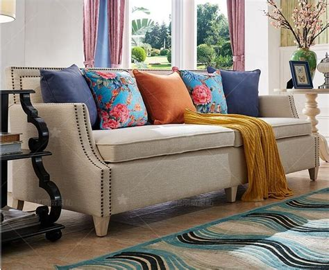living room sofa set home furniture modern linen hemp fabric sectional sofas american country