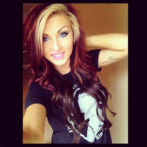 hair   red  turning