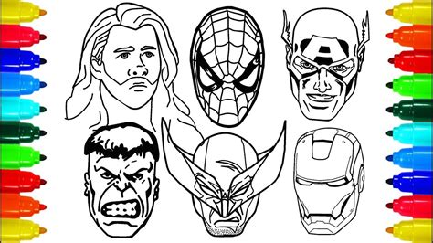 spiderman iron man wolverine thor coloring pages