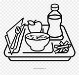 Coloring Clipart Lunch Tray Drawing Pages Meal Dish Covered Clip Drawings Pinclipart Svg Paintingvalley sketch template