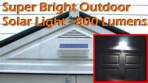 Outdoor Spot Lights Solar Super Bright Outdoor Solar Light 48 Led 800 Lumens Youtube