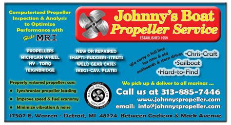 Johnny S Boat Propeller Service by Johnny S Boat Propeller Engines Propulsion Lake St
