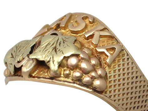 1950s Black Hills Gold Alaska Ring For Sale At 1stdibs