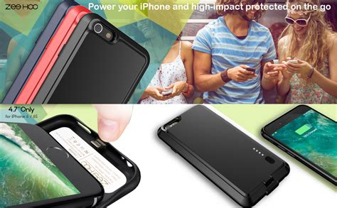 amazoncom iphone   battery case zeehoo ultra slim