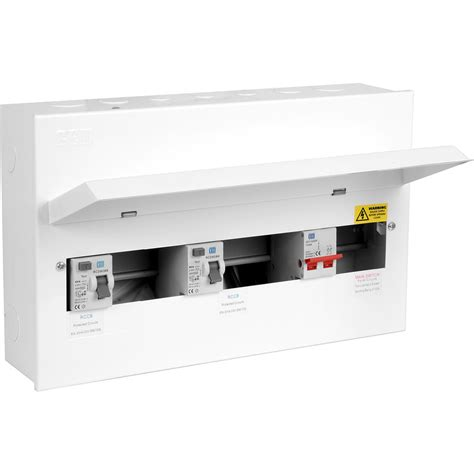 axiom metal 17th edition amendment 3 dual rcd consumer unit 12 way