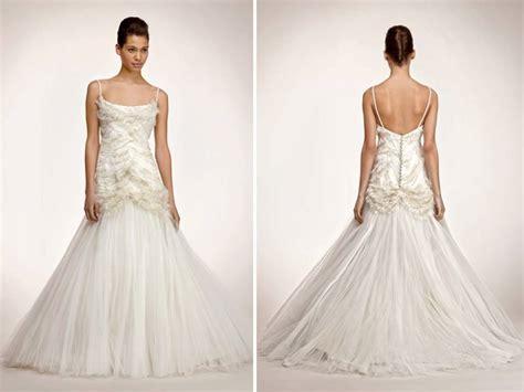 Glamourous Drop-waist Tulle Mermaid Wedding Dress With