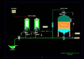 Water Purufication  U2013 Diagram Dwg Block For Autocad