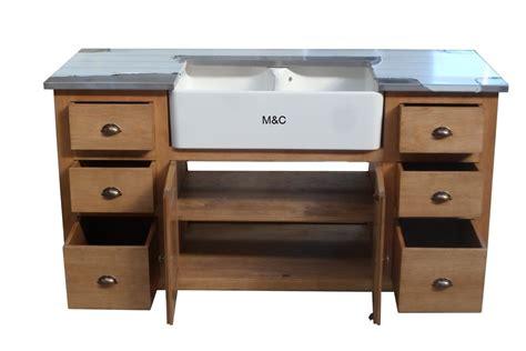 meuble sous evier de cuisine meuble evier de cuisine 2 bacs en bois