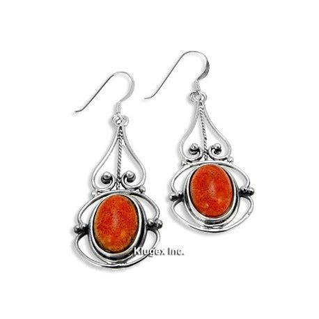 925 Sterling Silver Coral Earrings sterling silver earrings with coral jewelry farm