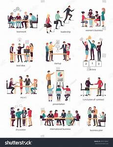 Vector Illustration Teamwork Leadership Womens Business