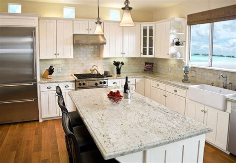 add luxury   kitchen  river white granite