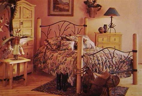 borrego bed lodge log pole rustic wood metal beds
