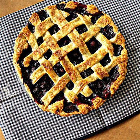 martha stewarts lattice top blueberry pie joanne eats