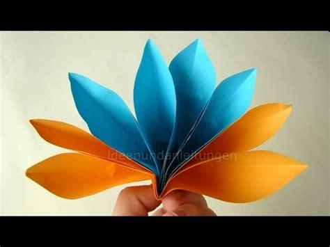 papier falten blume papier falten origami blume basteln einfache bl 252 te