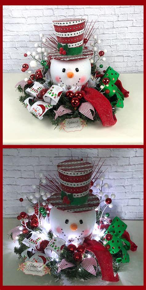 Snowman Table Decorations - light up snowman centerpiece centerpiece