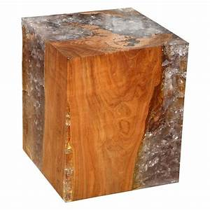 Wood and Resin Cube Table at 1stdibs