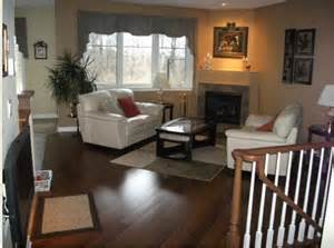 Family Room with Bamboo Flooring