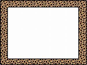 Cheetah Print Border Clipart - Clipart Suggest